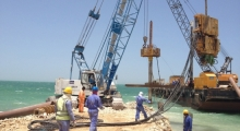 Marine Piling for Jetty at Al Jassasiya
